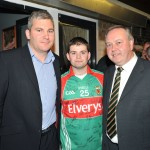 Special guest Mayo Manager James Horan is pictured left with Tom