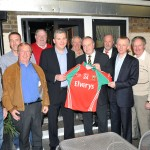 Mayo Manager James Horan and Tom Maloney, from the Oxford Arms in